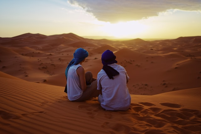 Morocco desert tours with a couple